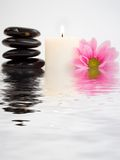 Flower and flame in water Stock Images