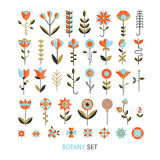 Flower flat collection. Vector  flower flat botany  collection isolated on white background. Set of  floral and herb elements, ecology signs and icons Stock Photos