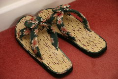 Flower flip flops Royalty Free Stock Image