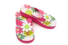 Flower Flip Flops Stock Image