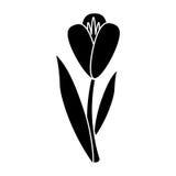 Flower flora fragant garden pictogram Royalty Free Stock Photo