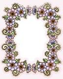 Flower floral border Stock Images