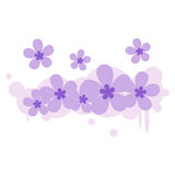 Flower floral fabric background  illustration design wallpaper space your message Stock Photo