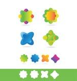 Flower florist shop logo Stock Images