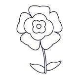 Flower flourish natural outline. Illustration eps 10 stock illustration