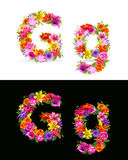 Flower font Stock Images