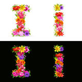 Flower font Stock Photography