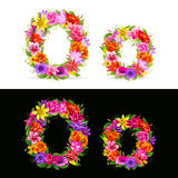 Flower font Royalty Free Stock Photos