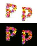 Flower font Stock Images