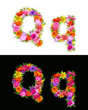 Flower font Royalty Free Stock Image