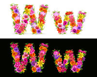 Flower font Royalty Free Stock Photo