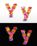 Flower font Stock Photo