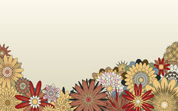 Flower foreground. Editable foreground of various generic flowers royalty free illustration