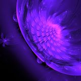 Flower fractal abstract background in purple royalty free stock images