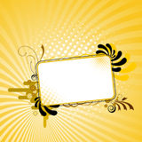Flower frame 02 Royalty Free Stock Image