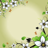 Flower frame Stock Image
