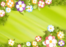 Flower frame. Illustration with space for text Royalty Free Stock Images