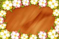 Flower frame. Illustration with space for text Stock Photos