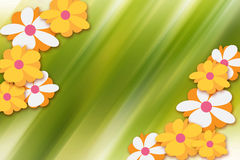 Flower frame. Illustration with space for text Stock Photo