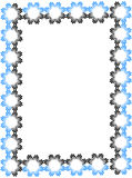 Flower frame. Black and blue flower frame Stock Photo