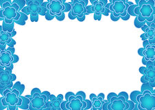 Flower frame. Illustration with color flower frame Royalty Free Stock Photo