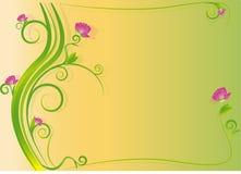Flower frame. Glowing vector flower frame illustration Royalty Free Stock Photos