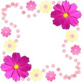 Flower frame. Computer generated illustration of flower frame Royalty Free Stock Photos