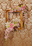 Flower and frame Stock Image