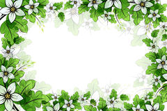 Flower frame Stock Image
