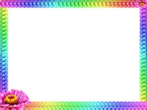 Flower frame 2. Frame made of colorful flowers royalty free stock photography