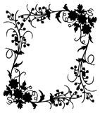Flower frame. Work with vectors,illustration Royalty Free Stock Photo