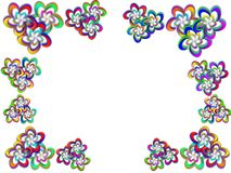 Flower frame. Frame for a photo from multi-coloured flower Stock Images
