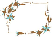 Flower frame Royalty Free Stock Photo