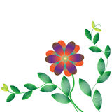 Flower of frame. On background Stock Image