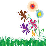 Flower of frame. On grass Royalty Free Stock Photo