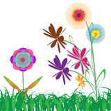 Flower of frame. On grass Royalty Free Stock Image
