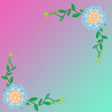 Flower of frame. On color background Royalty Free Stock Image