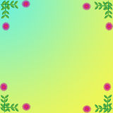 Flower of frame. On color background Royalty Free Stock Images