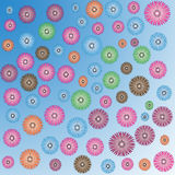 Flower of frame. Flower background on color background Royalty Free Stock Photo