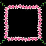 Flower of frame. On background Royalty Free Stock Photography