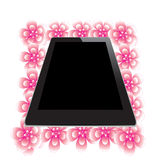 Flower of frame. In tablet Royalty Free Stock Photos