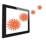 Flower of frame. In tablet Royalty Free Stock Image