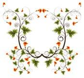 Flower frame. Abstract flower frame, element for design, vector illustration Stock Photo