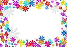 Flower frame Royalty Free Stock Photos
