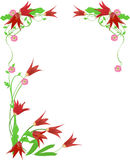 Flower frame. Abstract grunge flower frame ,vector illustration Stock Photos
