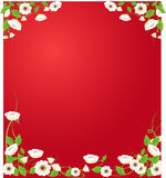Flower frame. Abstract grunge flower frame ,vector illustration Royalty Free Stock Images