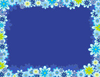Flower frame. Spring flowers bordering the whole page royalty free illustration