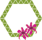 Flower Frame. A shaped frame decorated with flower royalty free illustration