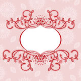 Flower frame, abstract background Royalty Free Stock Image