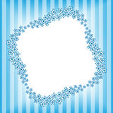 Flower frame 8. Abstract background as square frame in form of geometric five petals flowers Royalty Free Stock Photography